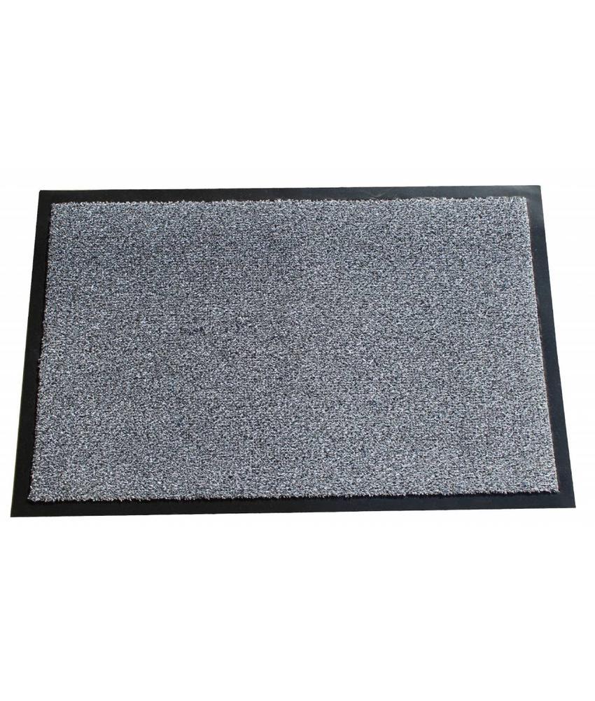 Wasbare schoonloopmat Grijs 40x60 cm.