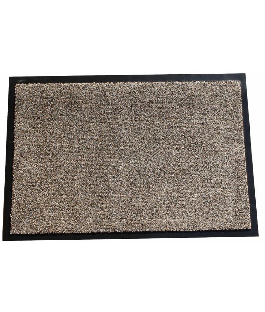 Wasbare schoonloopmat Beige 50x80 cm.