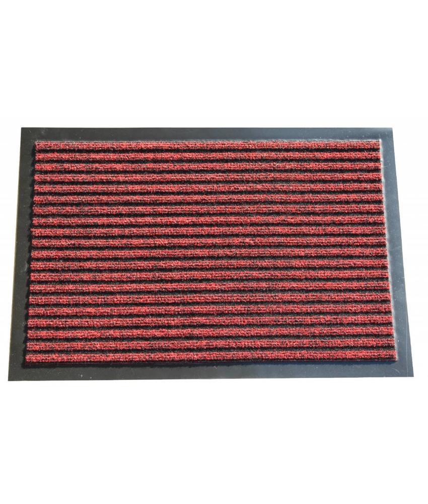 Naaldvilt deurmat Rood 40x60cm.