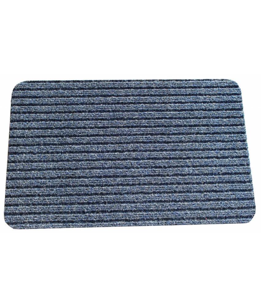Naaldvilt deurmat Solid 40 X 60 cm. Blauw
