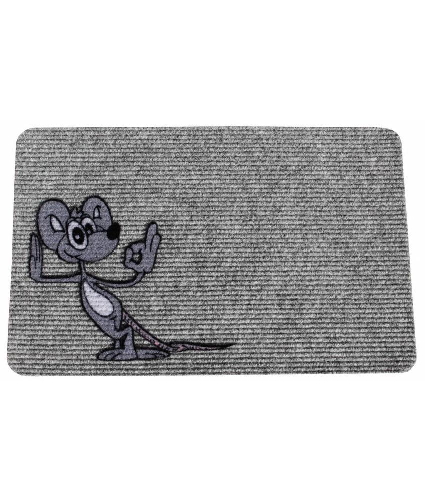 Naaldvilt deurmat happy mouse 40 x 60 cm.