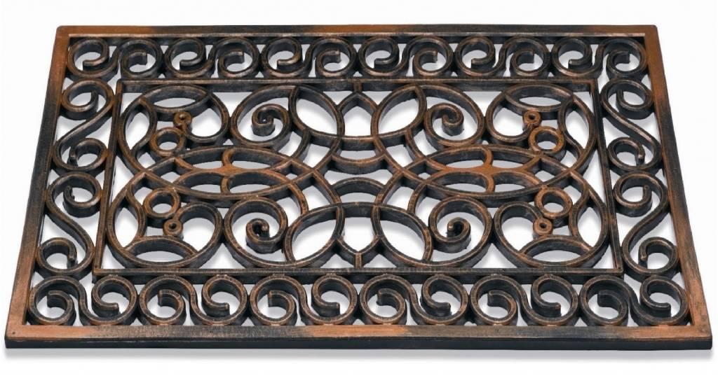 Super Rubber deurmat Koper Rectangle 45 x 75 cm. - Megatip.be UD07