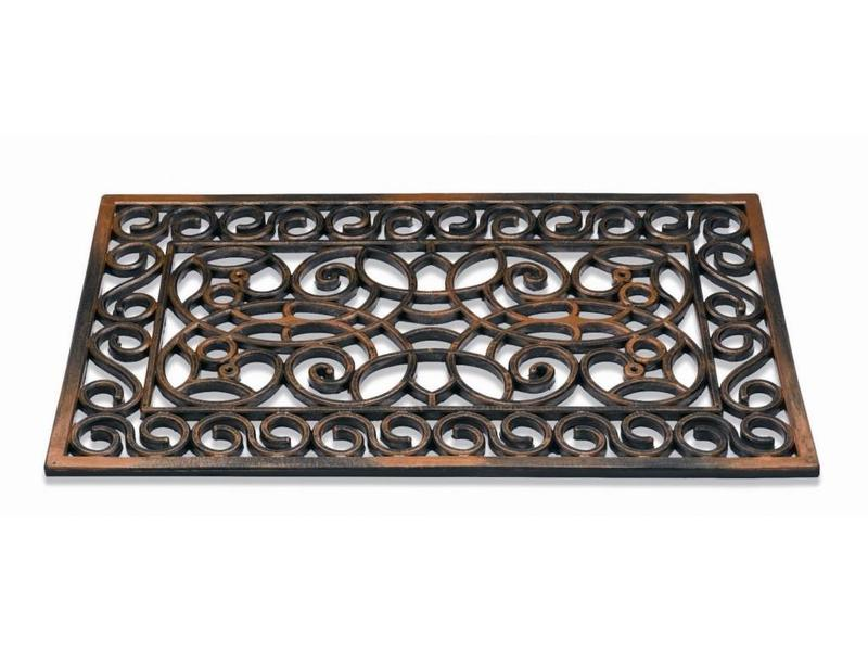 Rubber deurmat Koper Rectangle 45 x 75 cm.