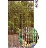 """Deurgordijn Houtparels """"Wood Brown"""" 90x200 cm."""
