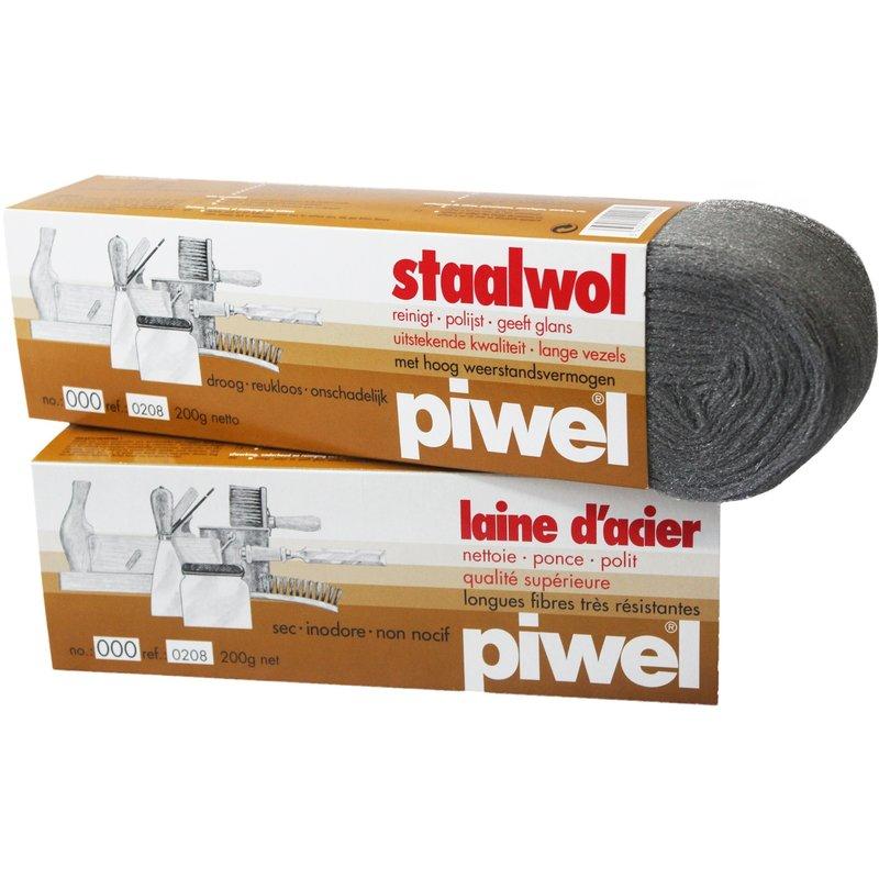Piwel Staalwol 200gr  nr 000 -  ultra fijn
