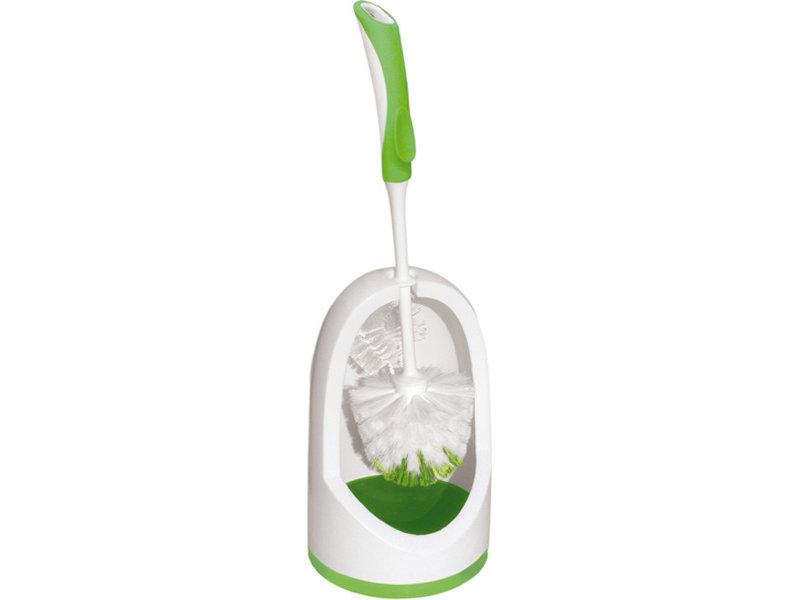 WC Set - borstel met lip en houder  york prestige - groen/wit