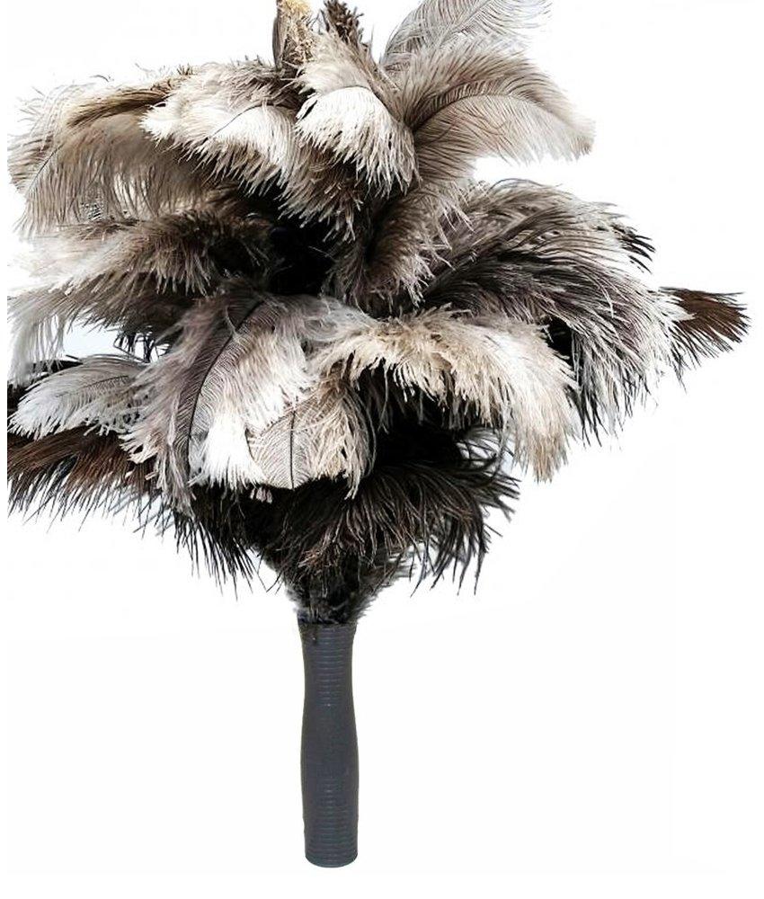 Struisvogel Plumeau 5 kransen - Pvc Handvat
