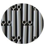 Luxe Vliegengordijn TUPE - 90x210 cm.  Zilver