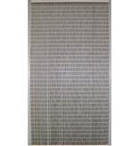 Luxe Vliegengordijn  TUPE - 100x232cm.   Zilver