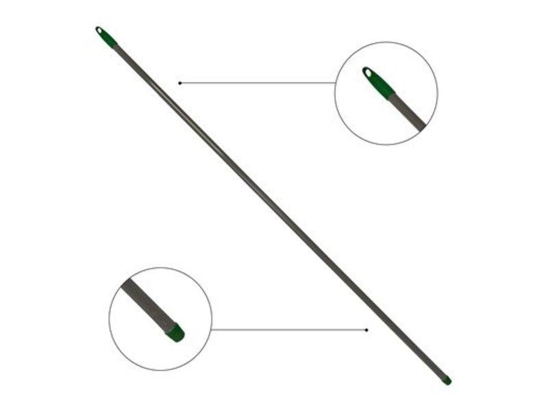 Metalen borstelsteel geplastificeerd met schroefdraad - 150 cm