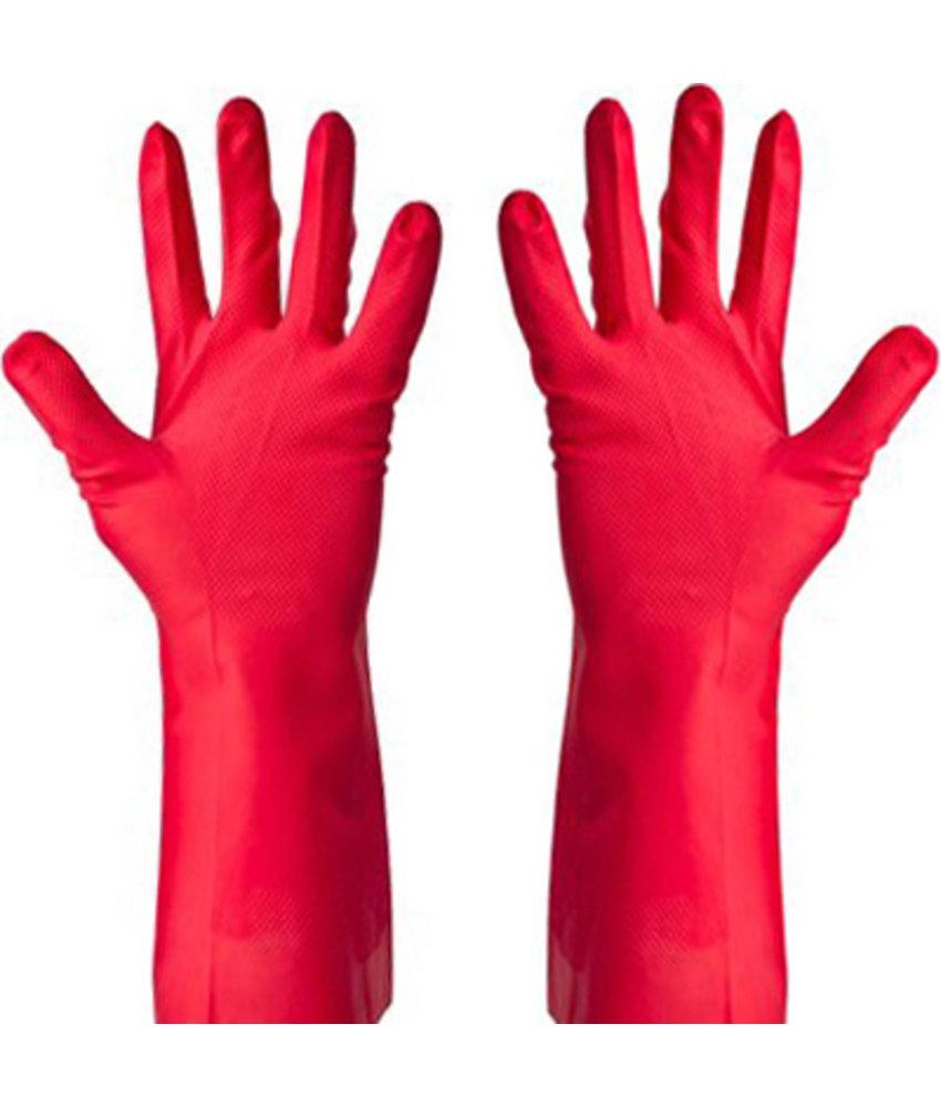 Huishoudhandschoenen Nitril - Rood