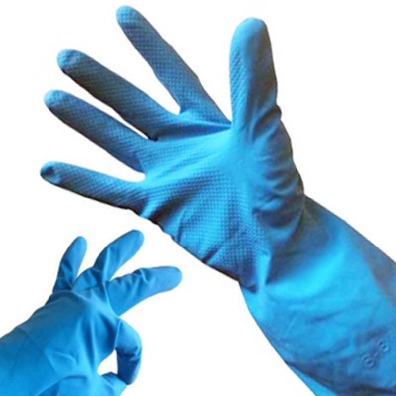 Huishoudhandschoenen natuurrubber latex - Blauw