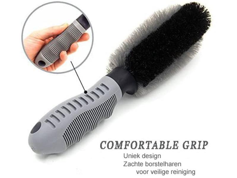 Squizzo Velgen reinigingsborstel  met ergonomische handgreep