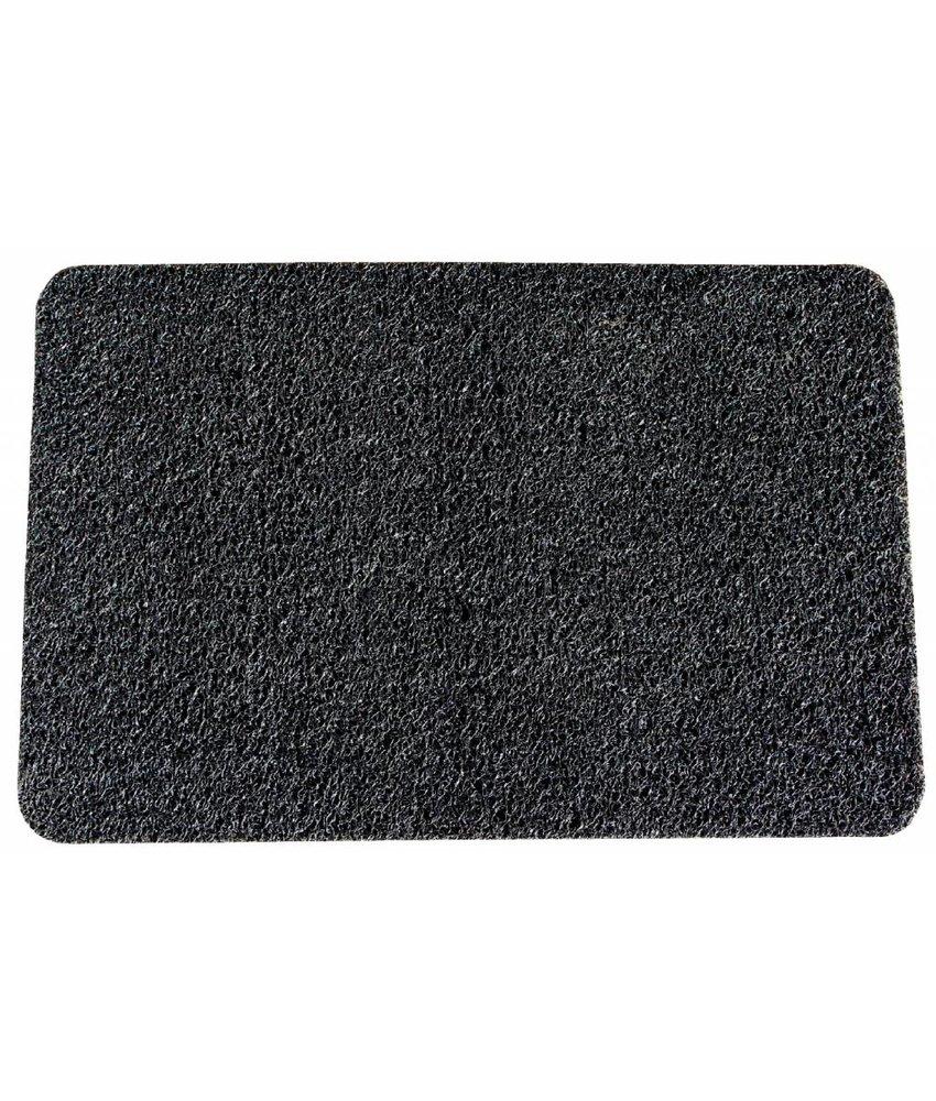 Deurmat Curly Zwart 60 x 80 cm.