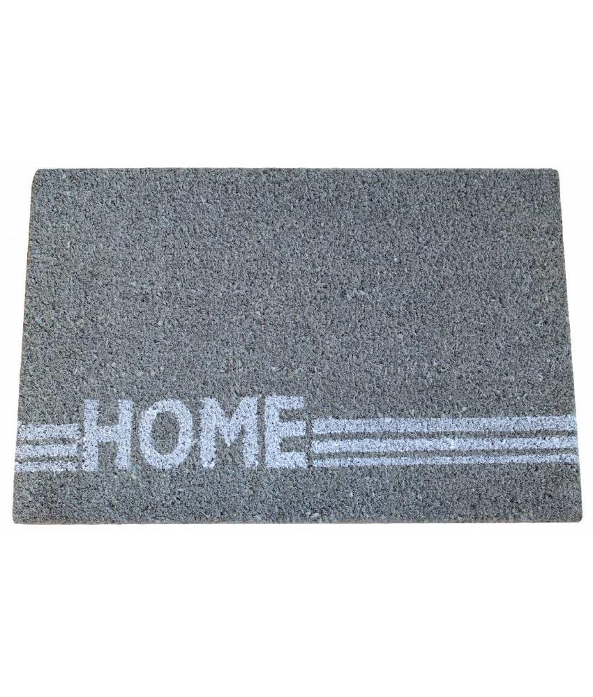 Kokosmat Home Stripe grey 40x60 cm.