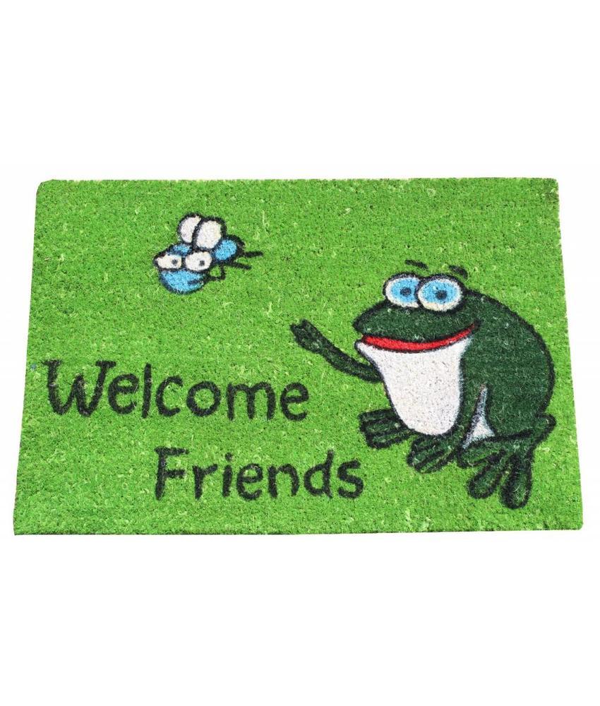Kokosmat Welcome Friends frog 40x60 cm.