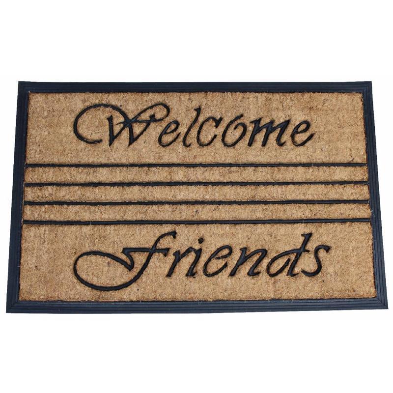 Kokosmat Bombay Welcome friends 45x75 cm.