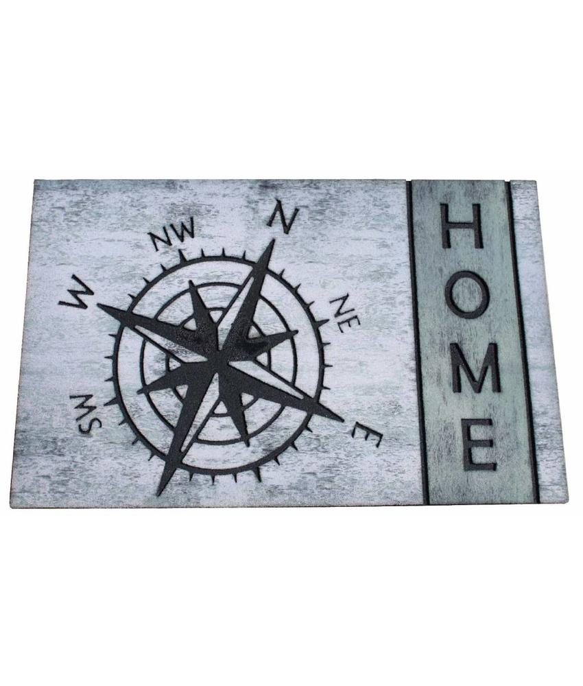 Deurmat rubber HOME Compass 45x75 cm.