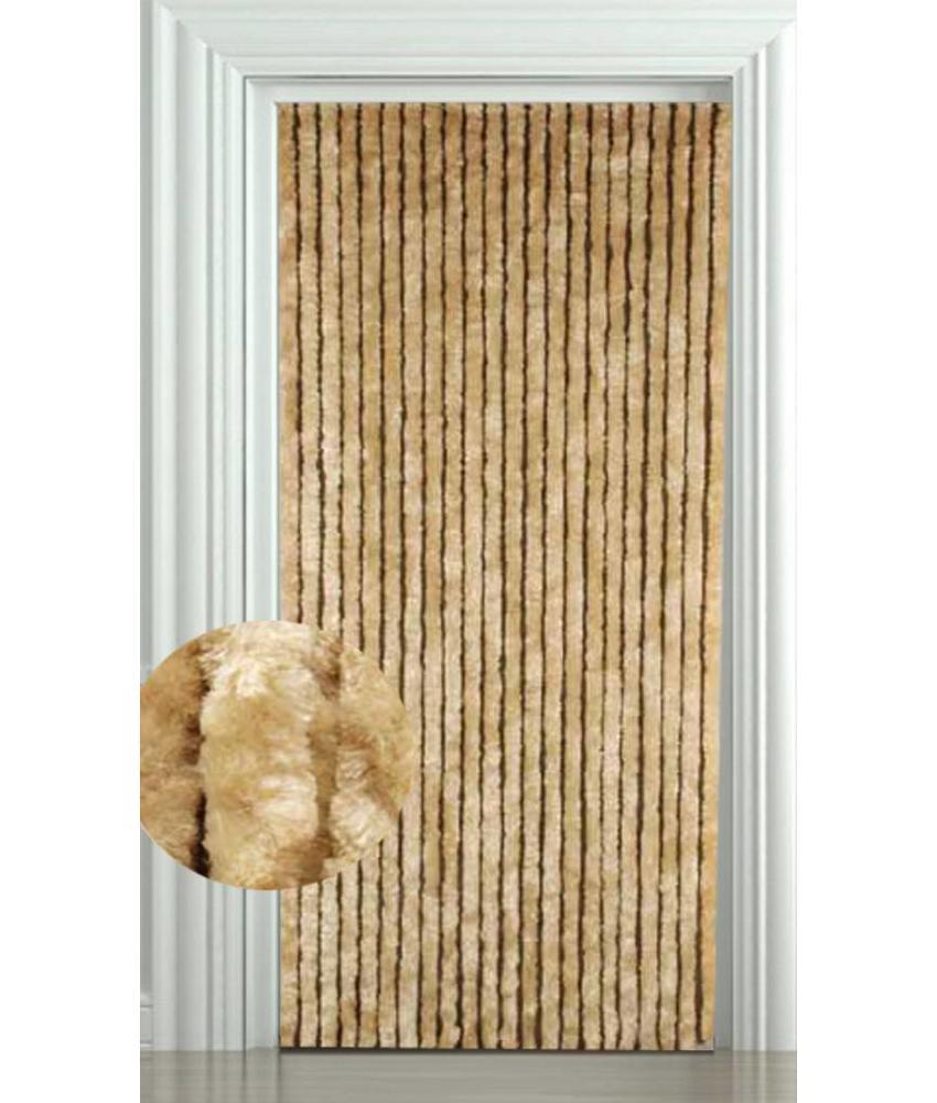 Vliegengordijn kattenstaart 90x220 cm. Beige