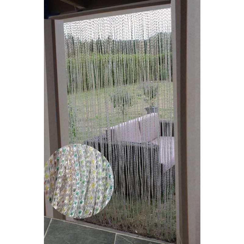 Vliegengordijn Geel/Groen 100x220 cm. M1