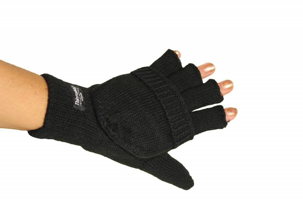 thinsulate handschoen zonder vingers met flap - megatip.be