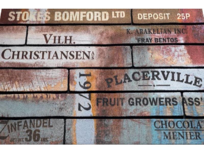 Rubber Deurmat ECO Master 45 x 75 cm. Scrapwood Vintage