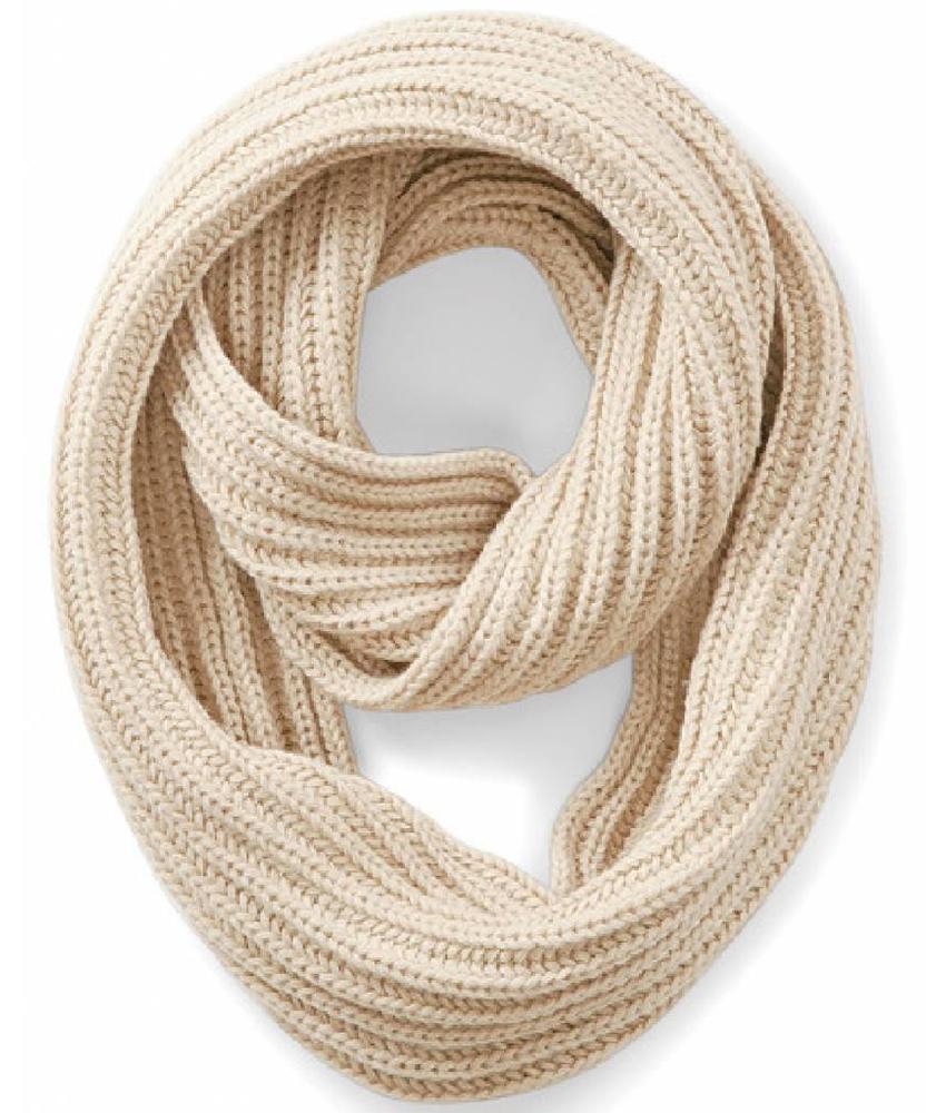 Rondgebreide sjaal Oatmeal