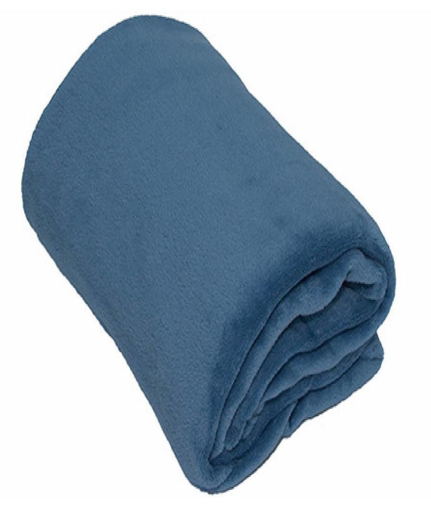 Fleece Plaid groot 150x200 cm licht Blauw