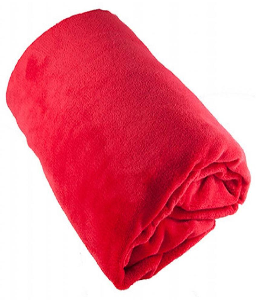 Fleece Plaid groot 150x200 cm Rood