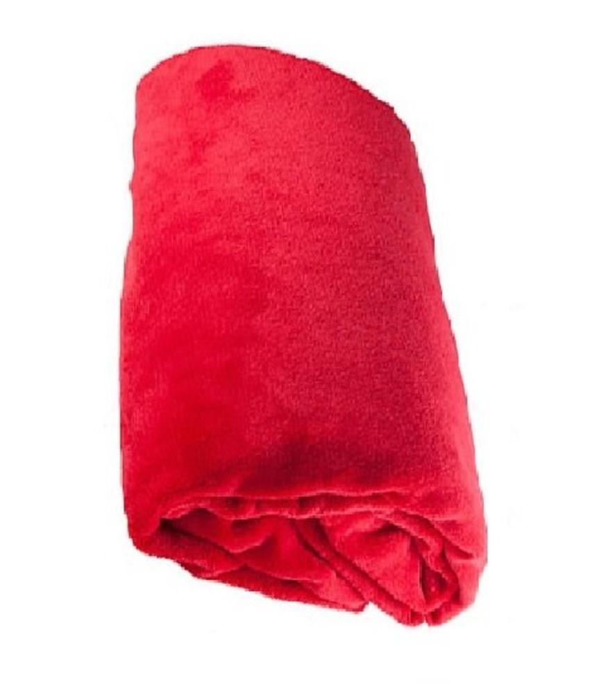 Fleece deken Coral 120x160 cm Rood
