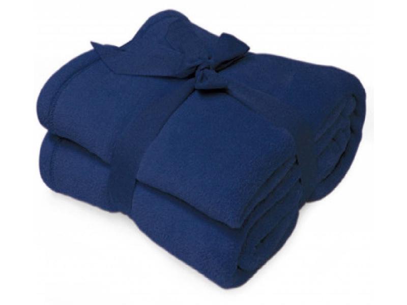 Fleece deken Microflush 130 x180 cm Navy Blauw