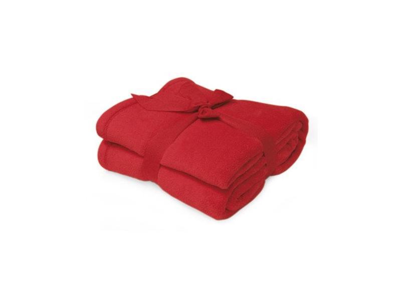 Fleece deken Microflush 130 x 180 cm Rood