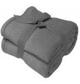 Fleece deken Microflush 130 x 180 cm Grijs