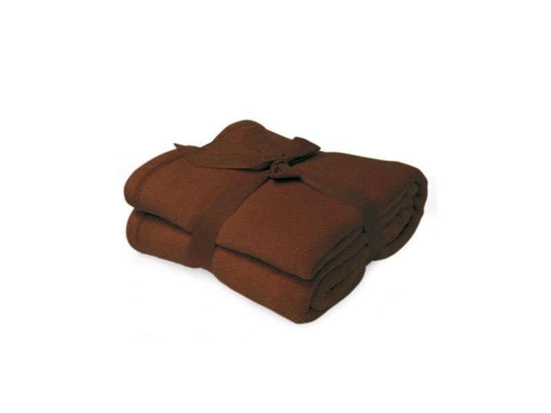 Fleece deken Microflush 130 x 180 cm Bruin