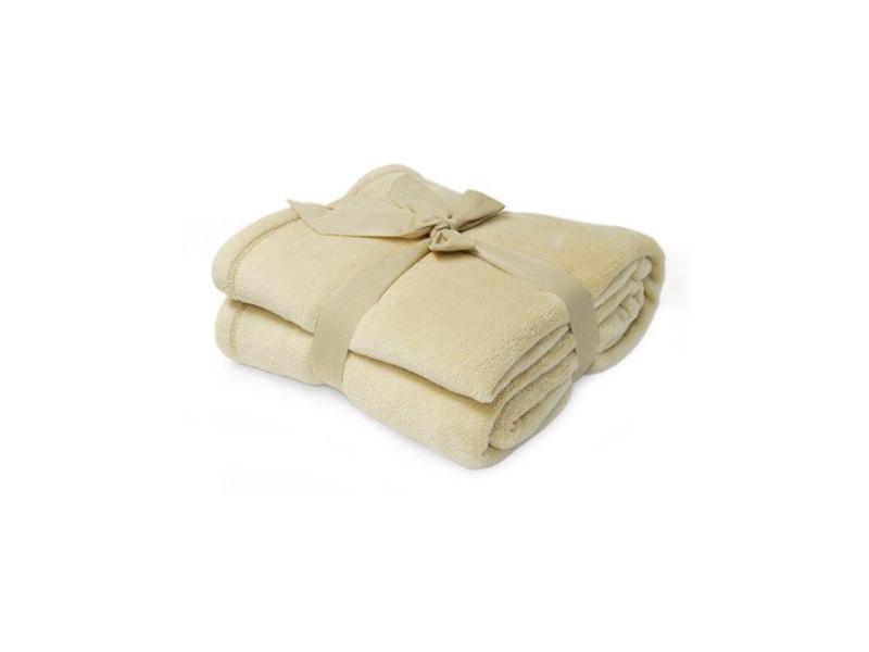 Fleece deken Microflush 130 x 180 cm Beige