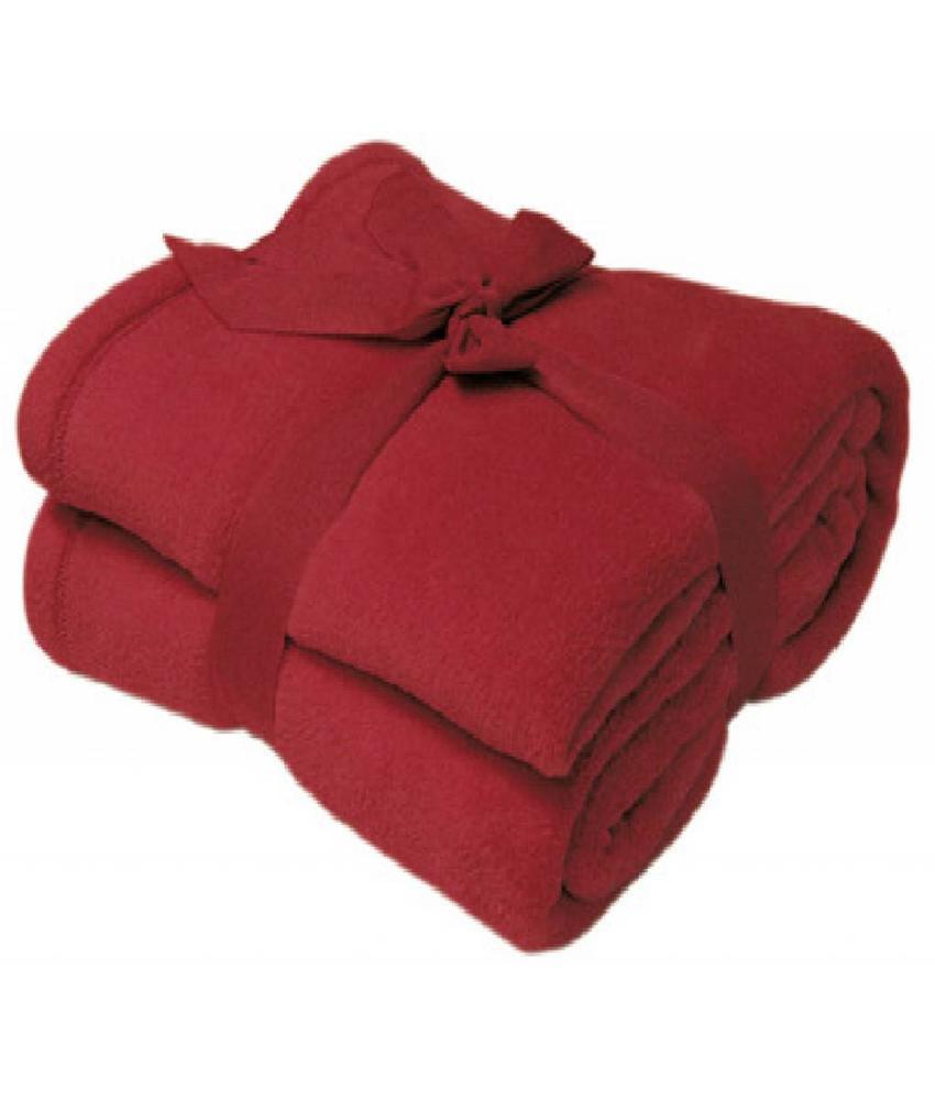 Fleece deken Microflush 130x180 cm Bordeaux