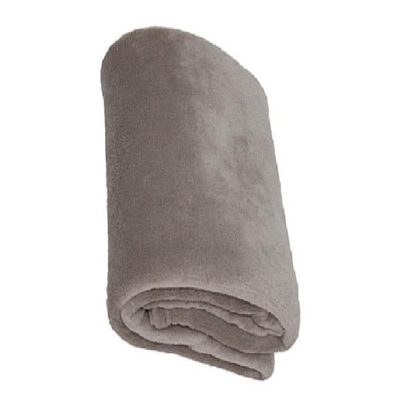 Fleece deken Coral 120x160 cm warm Grijs