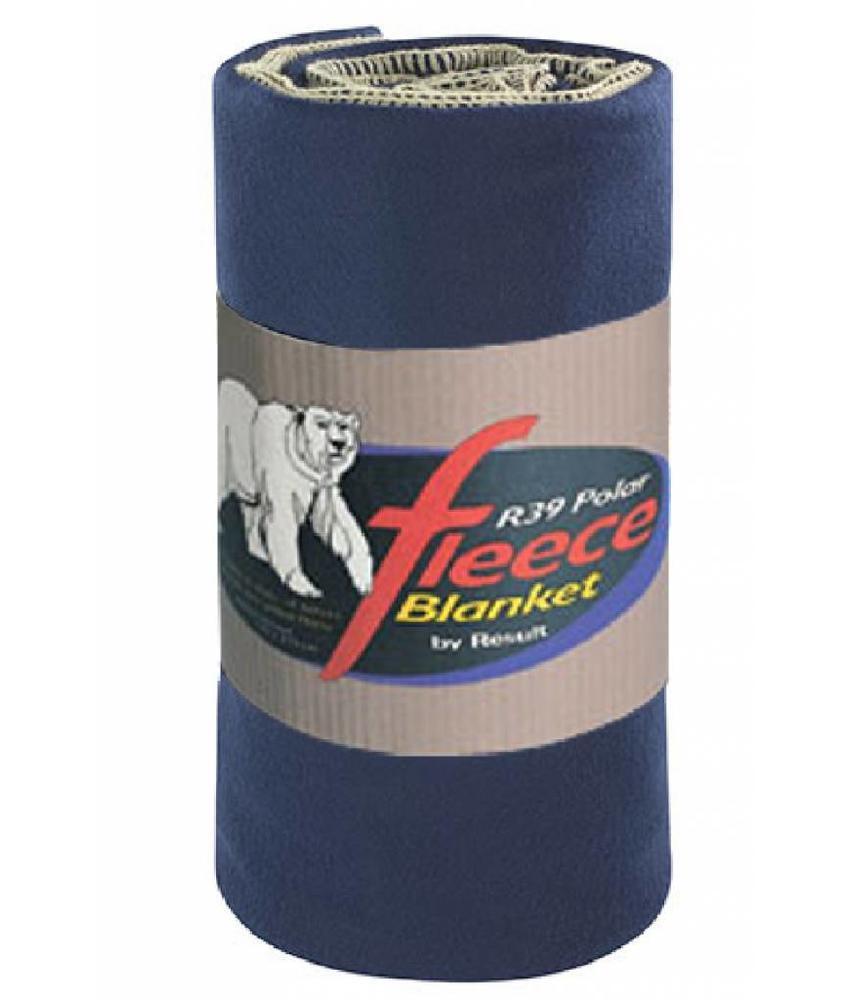 Fleece deken Deluxe 140x175 cm. Navy Blauw