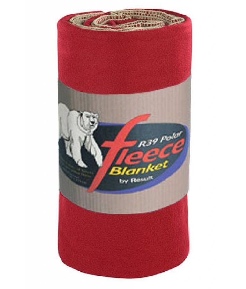 Fleece deken Deluxe 140x175 cm. Rococco Rood