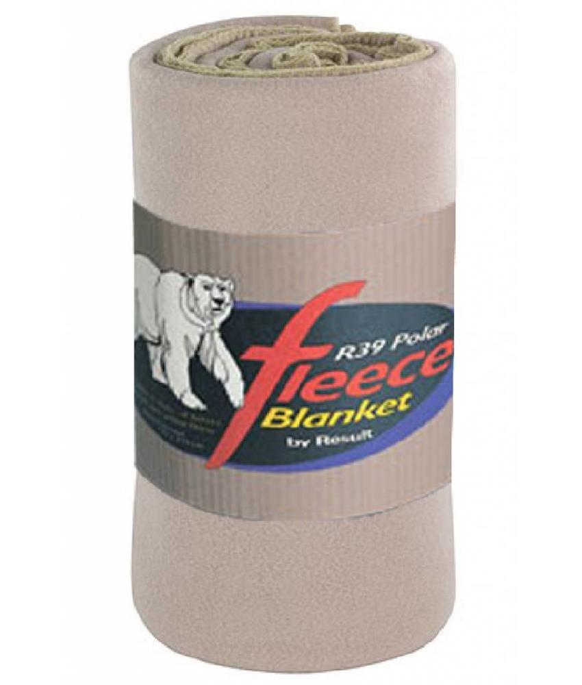 Fleece deken Deluxe 140x175 cm. Camel Beige