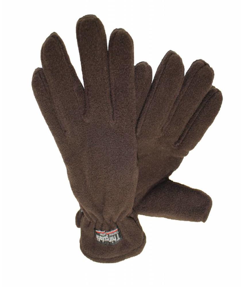 Fleece handschoenen Dames Bruin