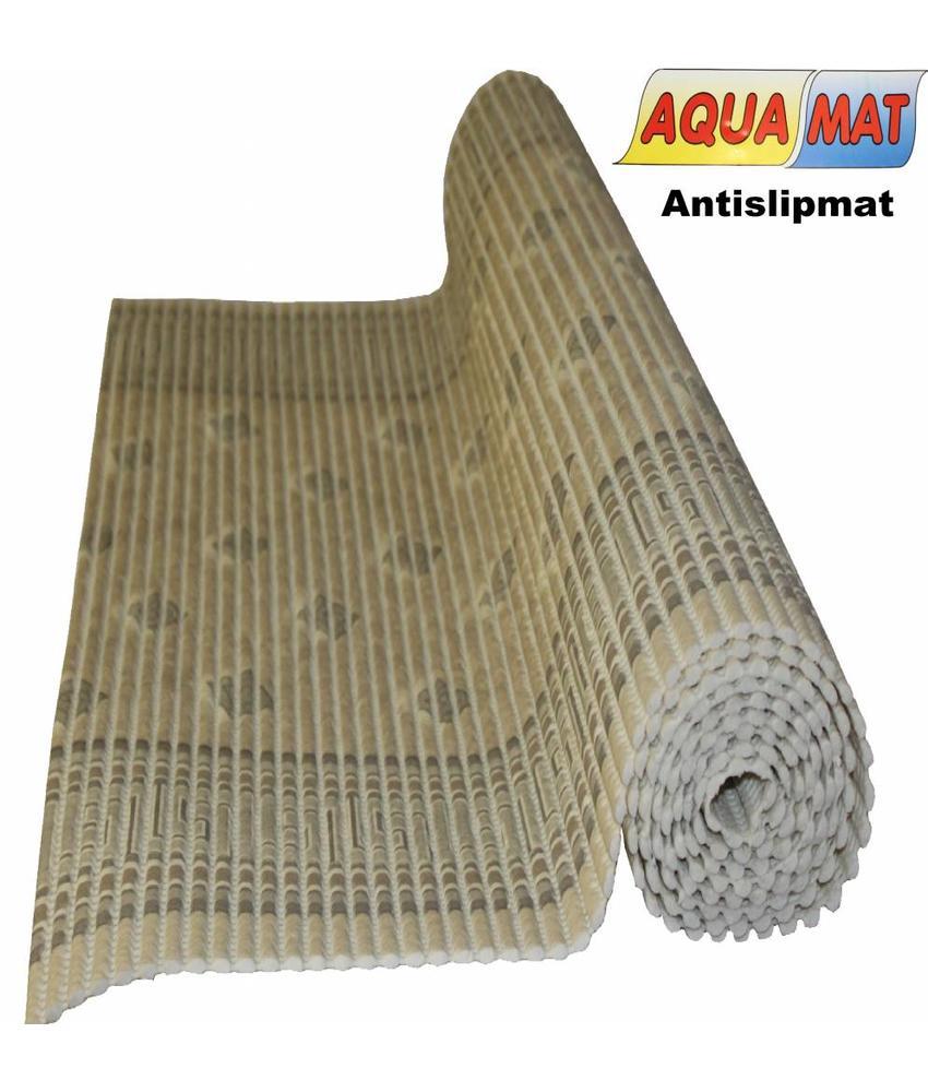 Aquamat antislipmat beige design 0,65 x 0,80 meter