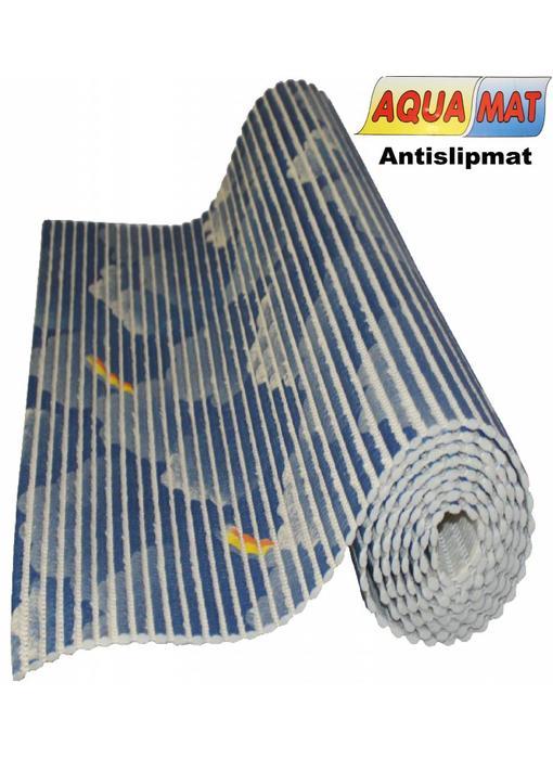 Aquamat antislipmat blauw wolk 0,65 x 2 meter