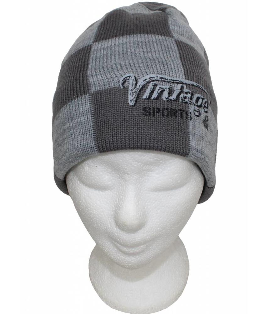 Kindermuts Vintage Grey/light grey