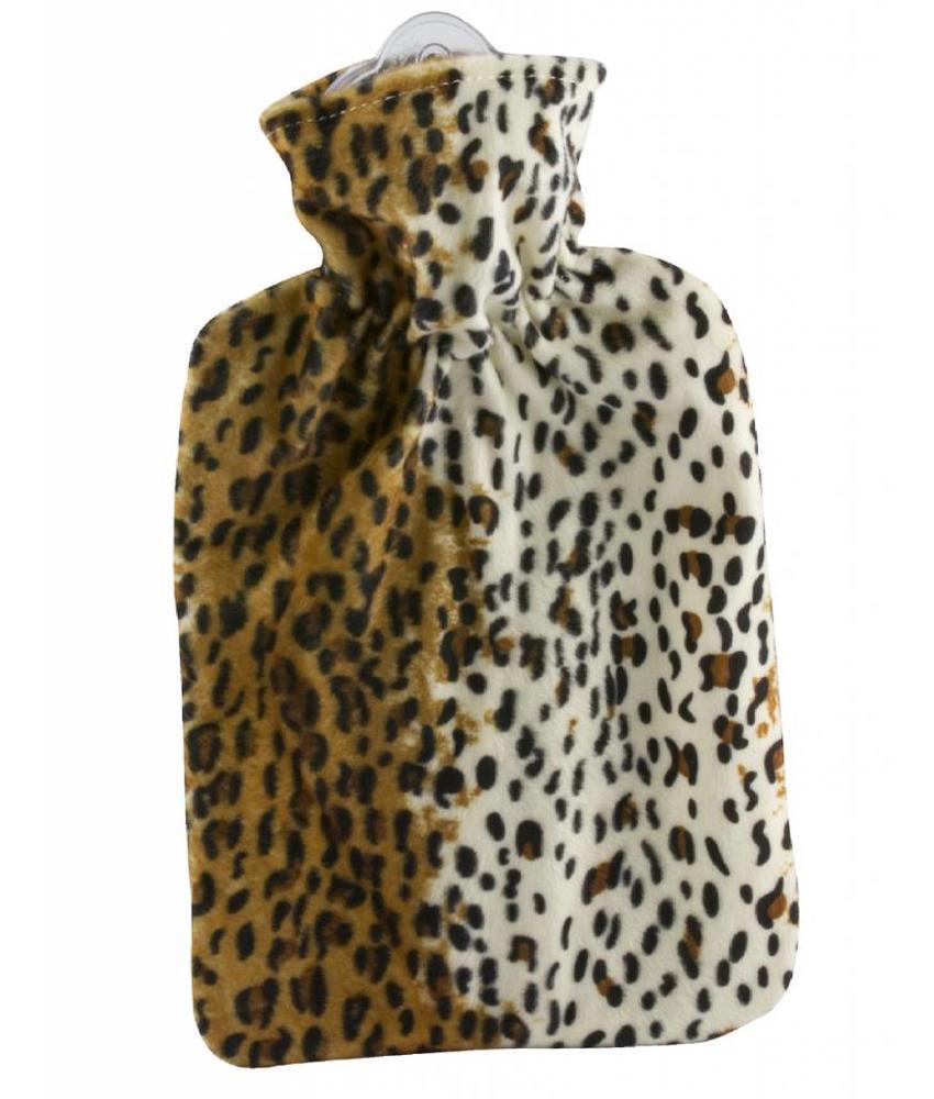 Warmwaterkruik velours Leopard