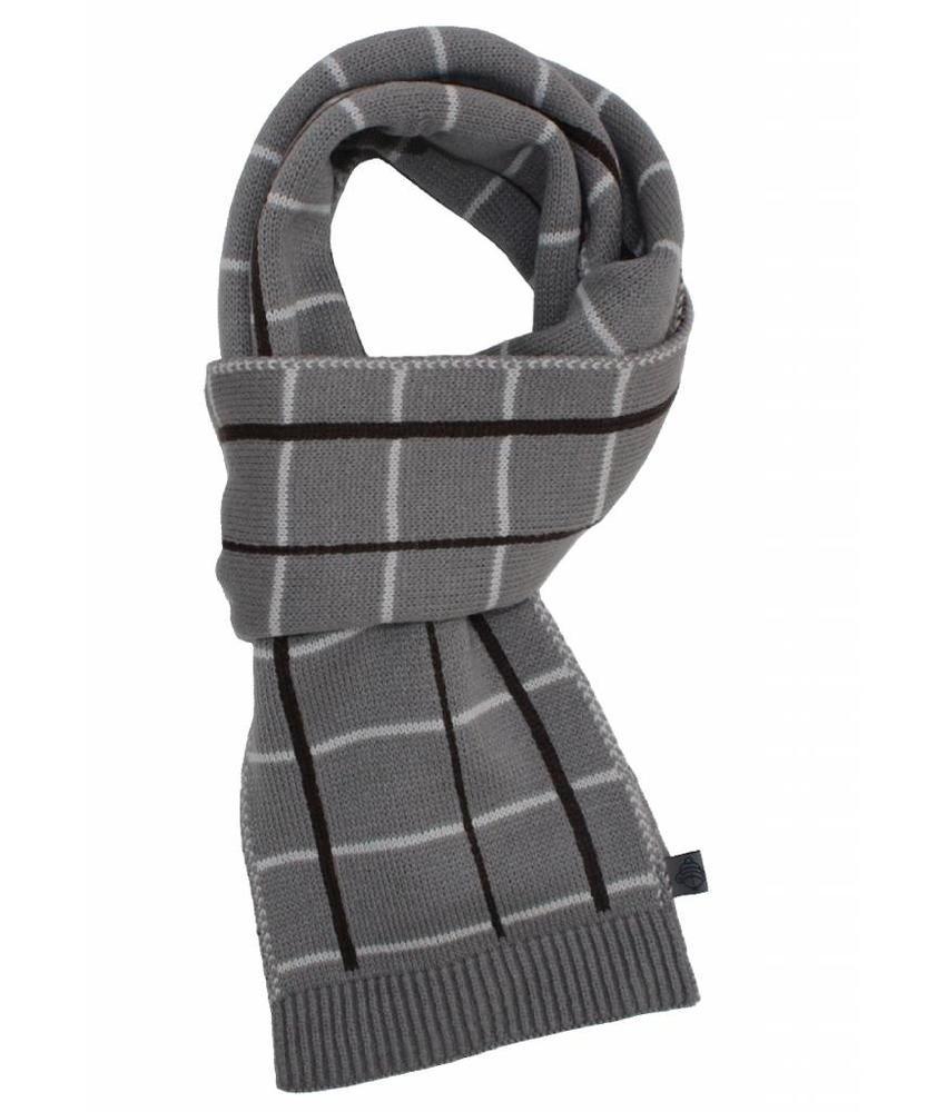 Sjaal gestreept Grijs/Bruin/wit