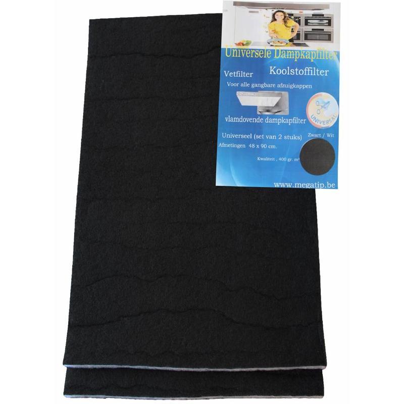 Koolstoffilter 48x90 cm. Universeel 2 st.