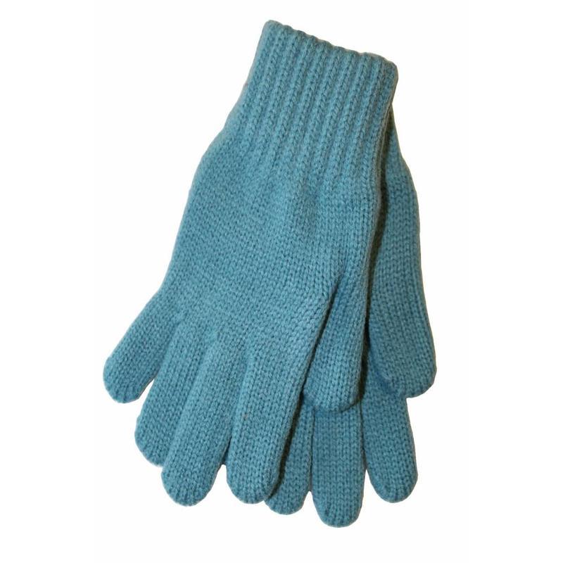 Gebreide kinderhandschoen L. Blauw