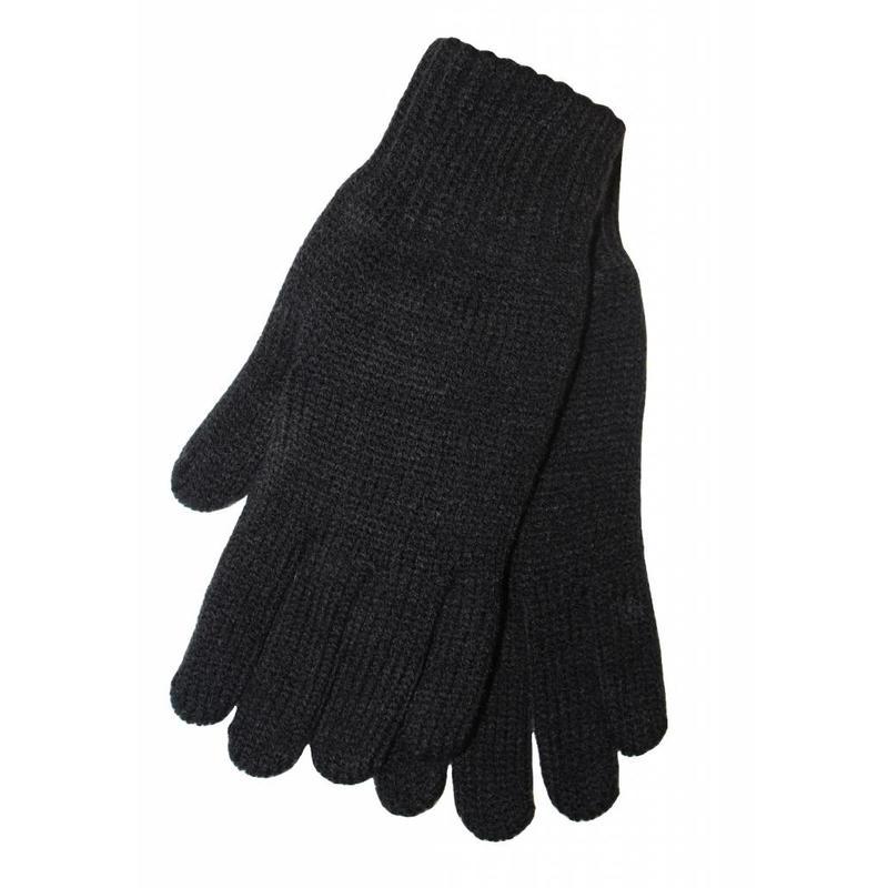 Gebreide kinderhandschoen Zwart