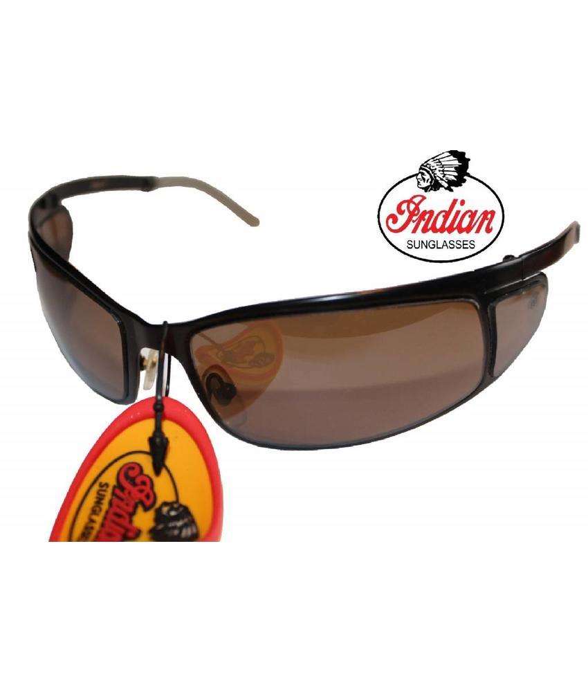 Indian Zonnebril Zwart /Smoke